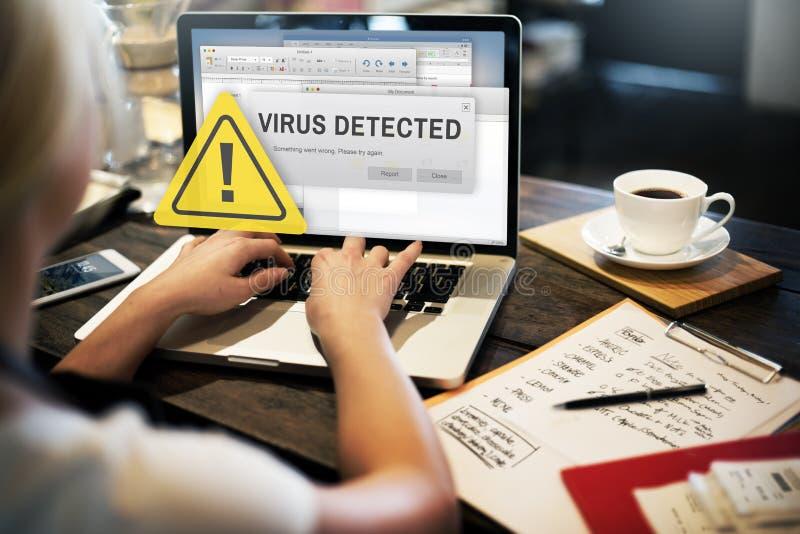 Concepto inseguro detectado virus sin garantía del corte imagen de archivo