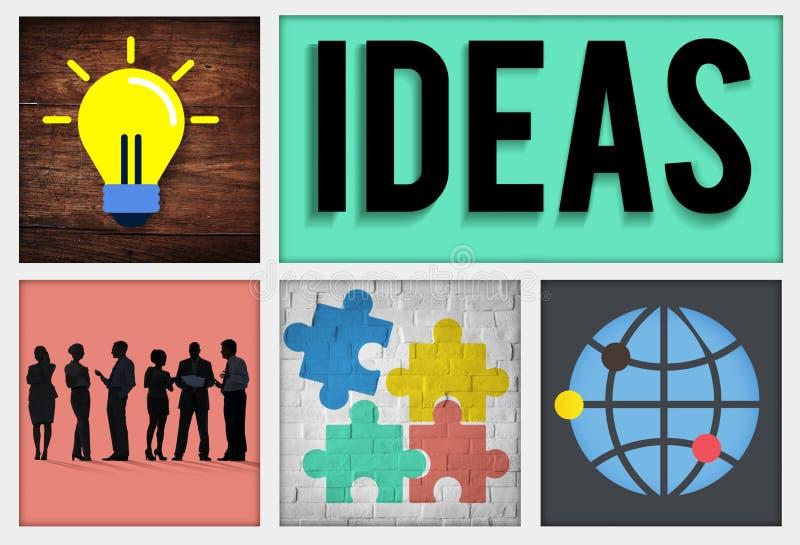 Concepto intelectual de la sabiduría de la inteligencia de la innovación de las ideas stock de ilustración