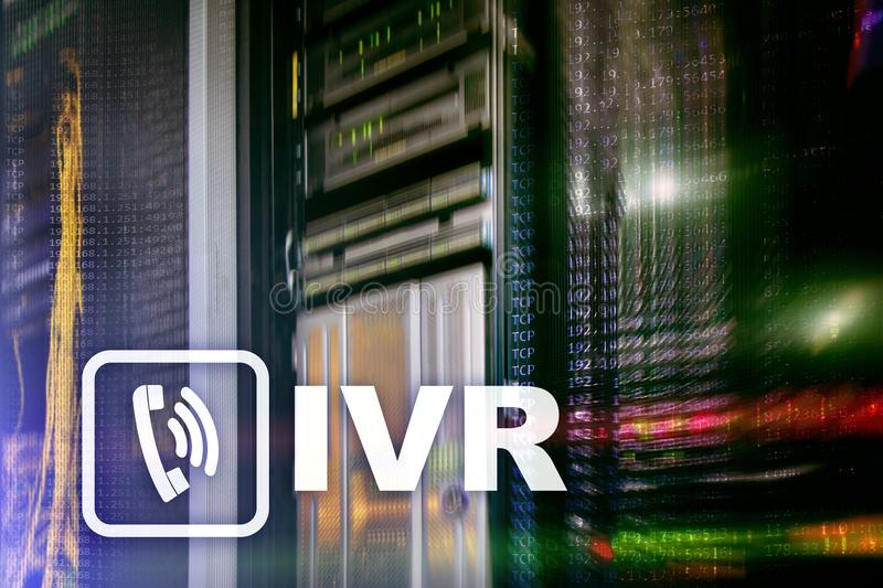 Concepto interactivo de la comunicación de la respuesta de voz de IVR imágenes de archivo libres de regalías