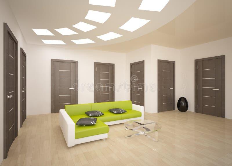 Concepto interior con las puertas libre illustration