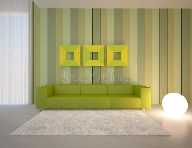 Concepto interior verde ilustración del vector
