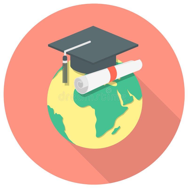 Concepto internacional de la educación ilustración del vector