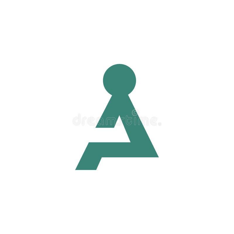 Concepto intrépido del logotipo de los ejemplos de la gente que se sienta ilustración del vector
