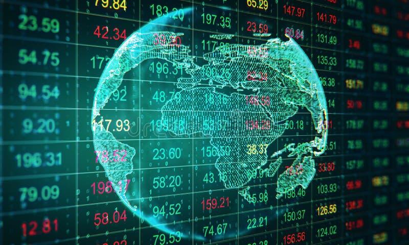 Concepto invierta y de la comercialización stock de ilustración