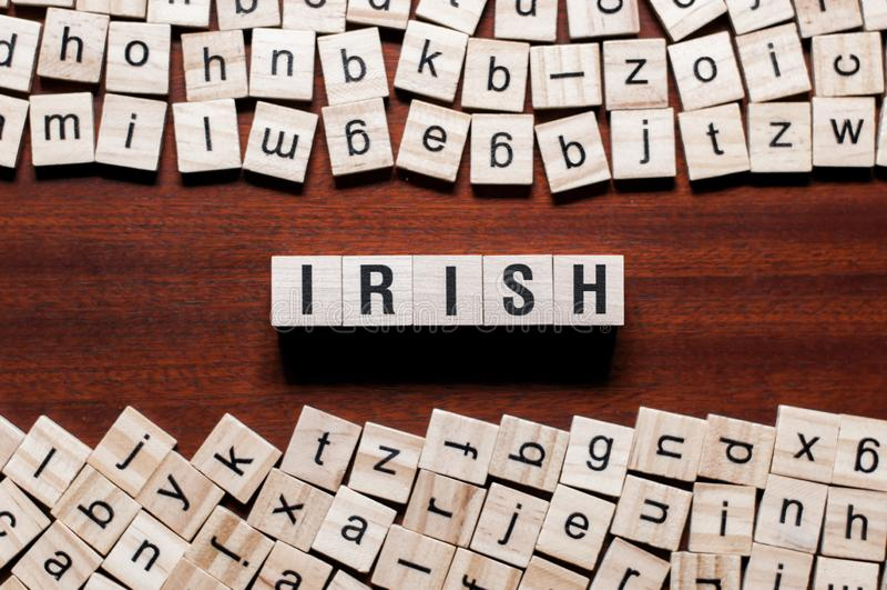 Concepto irlandés de la palabra en los cubos imagen de archivo libre de regalías