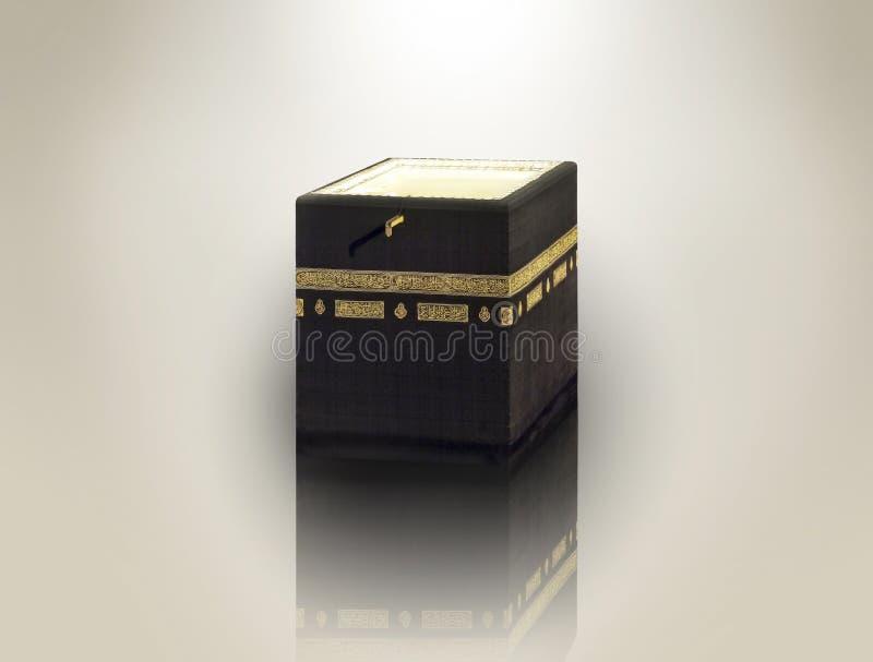 Concepto islámico de saludo del adha y de mes santo del kaaba para el jadye en Islam ilustración del vector