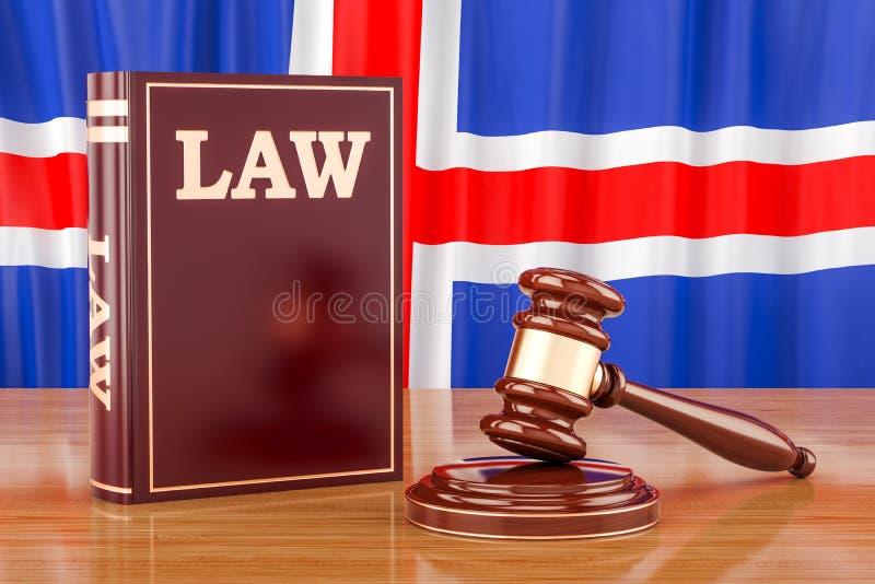 Concepto islandés de la ley y de la justicia, representación 3D ilustración del vector