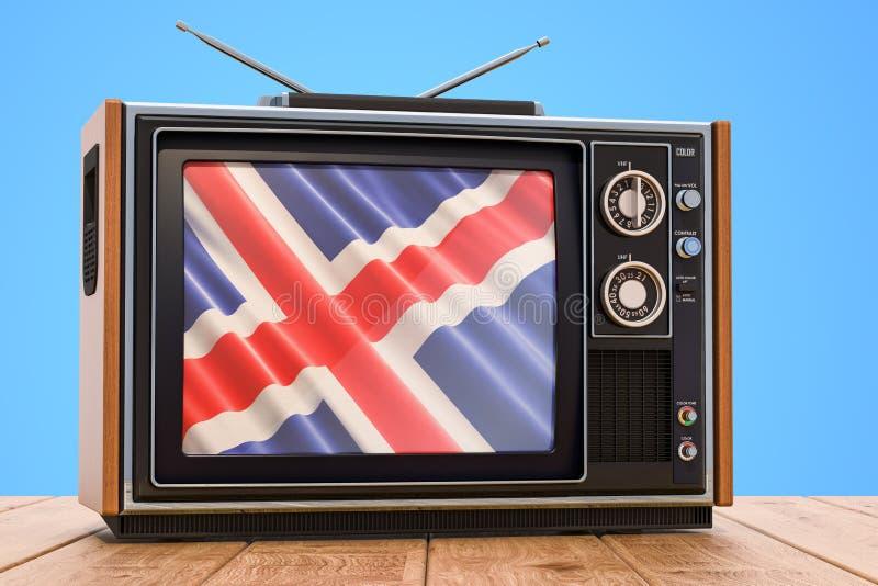 Concepto islandés de la televisión, 3D ilustración del vector