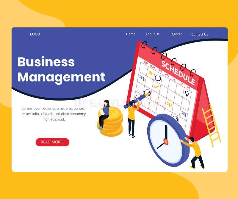 Concepto isométrico de las ilustraciones de la habilidad de gestión de negocio libre illustration