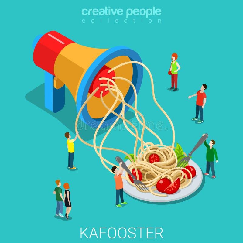 Concepto isométrico plano de los medios de comunicación 3d de la desinformación de Kafooster stock de ilustración