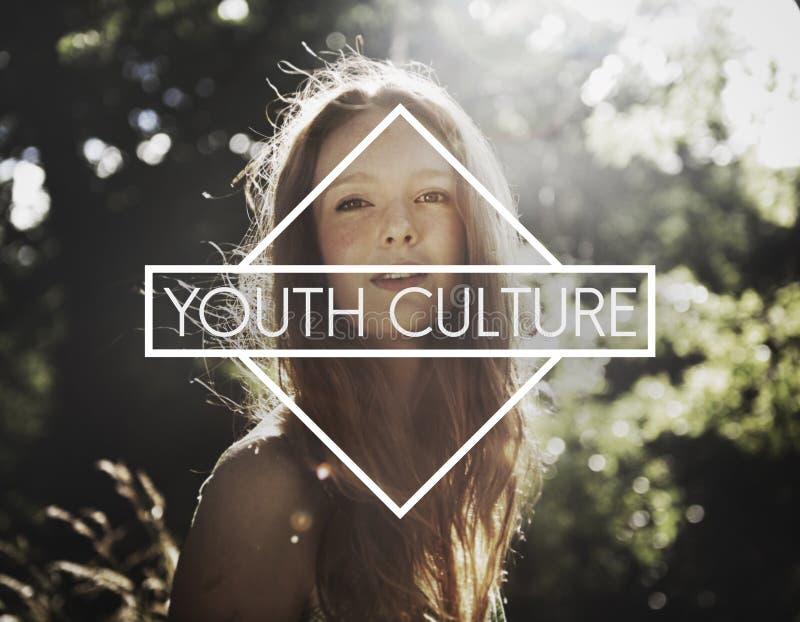 Concepto joven de la niñez de los estudiantes de las adolescencias de la cultura joven foto de archivo libre de regalías