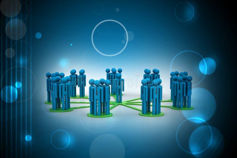 Concepto, líder y equipo de la dirección ilustración del vector