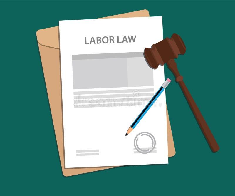 Concepto legal de ejemplo de la ley laboral stock de ilustración