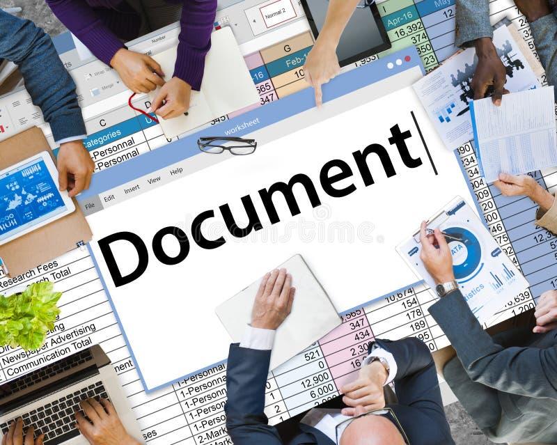 Concepto legal de los expedientes de las notas de las formas del contrato del documento fotografía de archivo libre de regalías