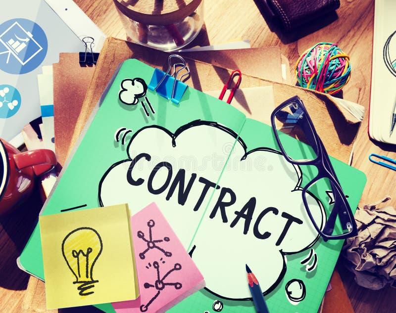 Concepto legal del trato de la sociedad del empleo del contrato fotos de archivo libres de regalías