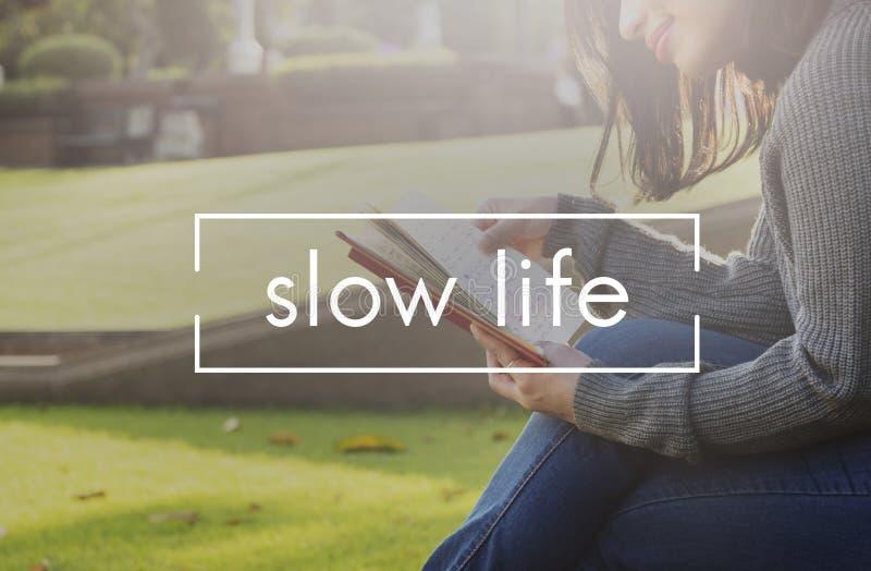 Concepto lento de la opción del silencio de la relajación de la forma de vida de la vida foto de archivo libre de regalías