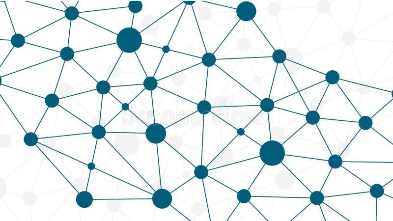 Concepto ligado de Open Data ilustración del vector