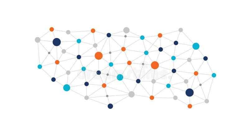 Concepto ligado de Open Data stock de ilustración