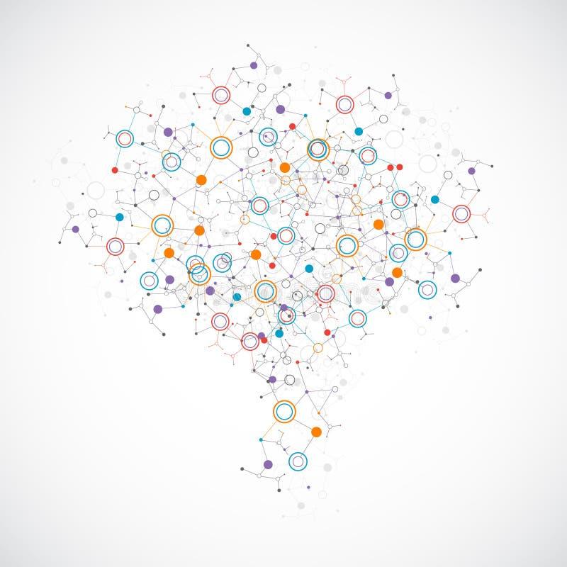 Concepto ligero creativo del cerebro humano ilustración del vector