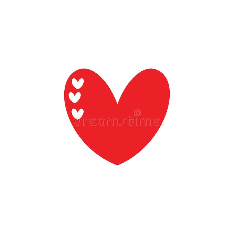 Concepto lindo de los ejemplos del corazón del amor ilustración del vector