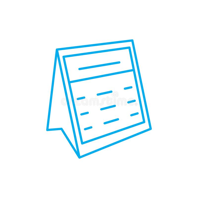 Concepto linear del icono del calendario de escritorio Línea muestra del vector, símbolo, ejemplo del calendario de escritorio ilustración del vector