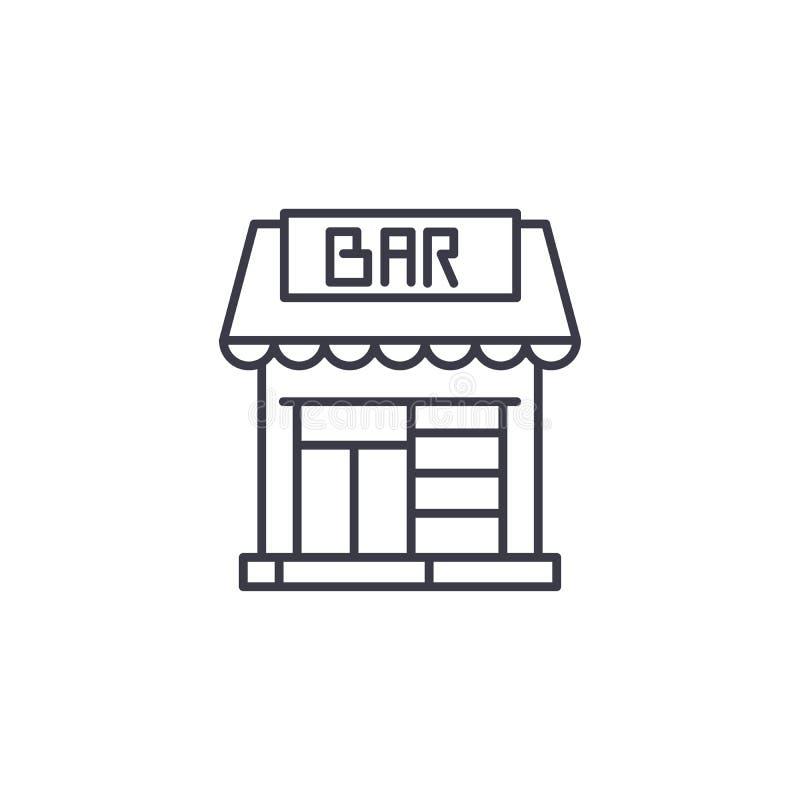 Concepto linear del icono de la barra de salón Línea de barra de salón muestra del vector, símbolo, ejemplo libre illustration
