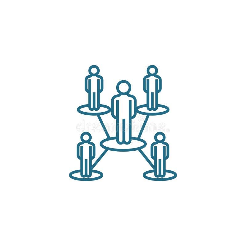 Concepto linear del icono de la estructura de organización Línea muestra del vector, símbolo, ejemplo de la estructura de organiz libre illustration