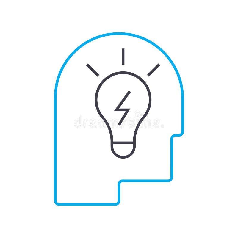 Concepto linear del icono de la idea brillante Línea brillante muestra del vector, símbolo, ejemplo de la idea libre illustration