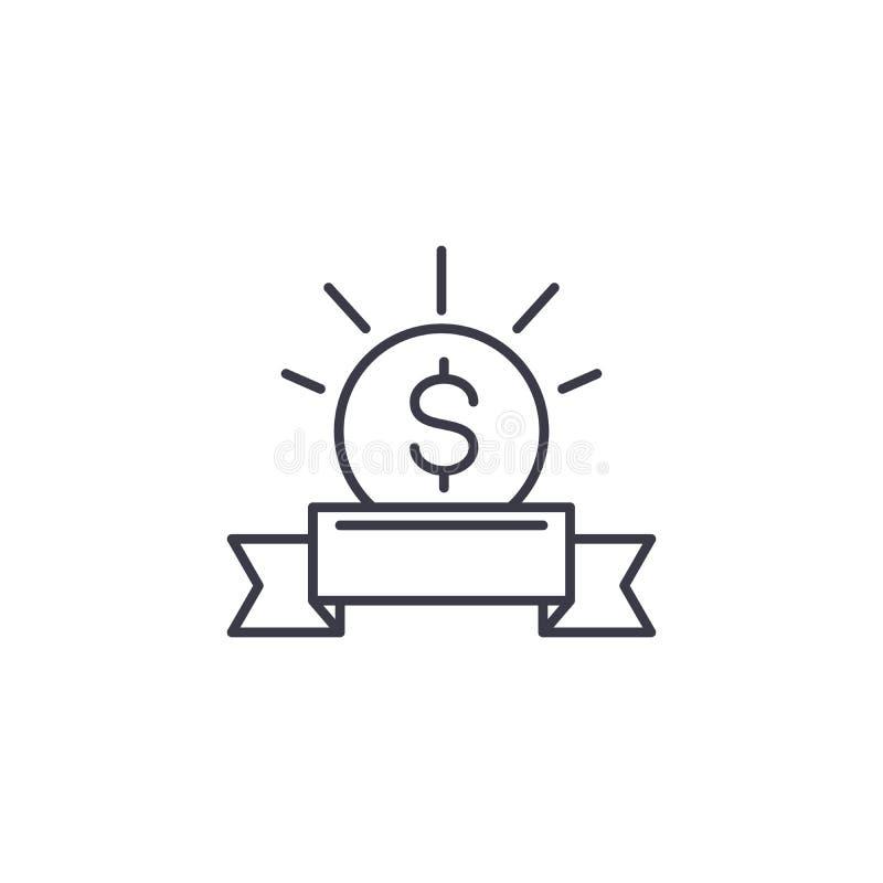 concepto linear del icono de la inversión elegante línea elegante muestra del vector, símbolo, ejemplo de la inversión libre illustration