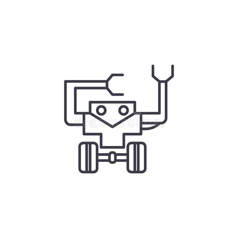 Concepto linear del icono de la robótica Línea muestra del vector, símbolo, ejemplo de la robótica ilustración del vector