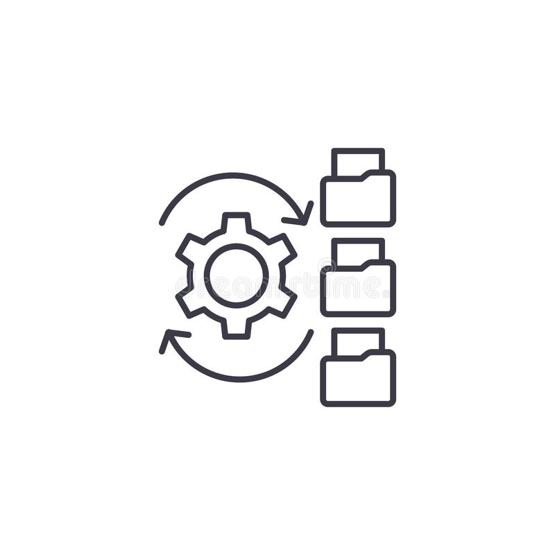 Concepto linear del icono de Paperflow Línea muestra del vector, símbolo, ejemplo de Paperflow libre illustration