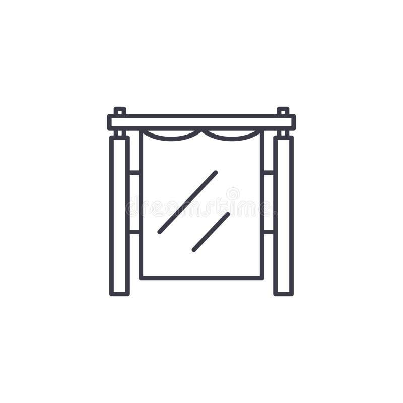 Concepto linear del icono de Photostudio Línea muestra del vector, símbolo, ejemplo de Photostudio stock de ilustración