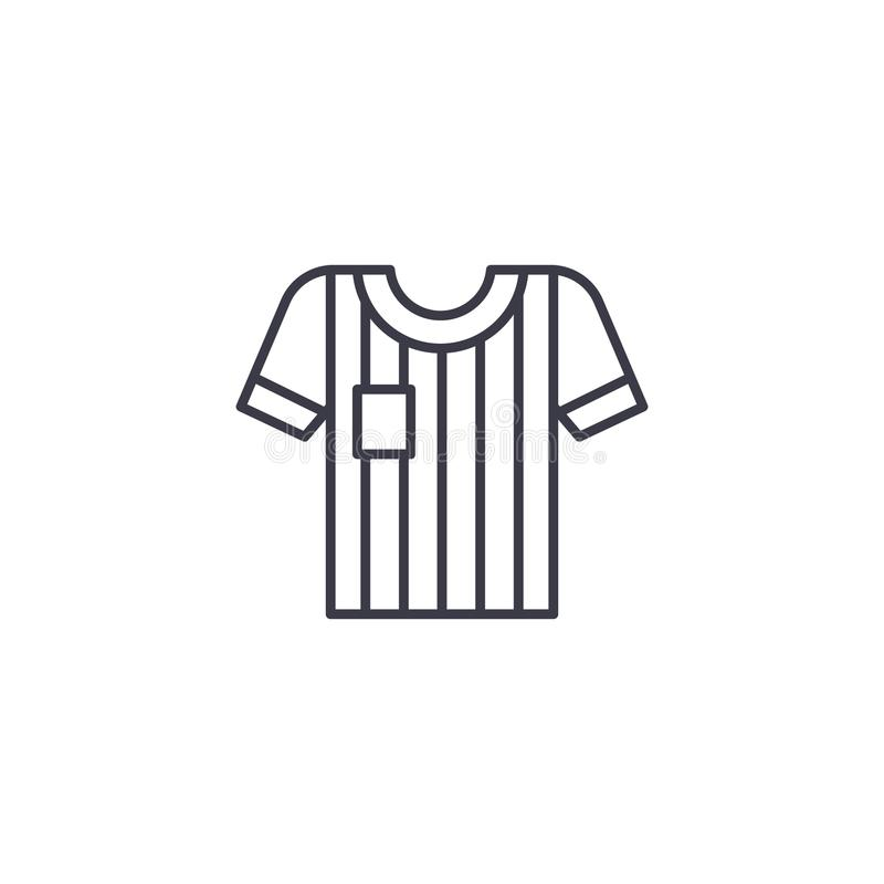 Concepto linear del icono del jersey de fútbol Línea muestra del vector, símbolo, ejemplo del jersey de fútbol libre illustration