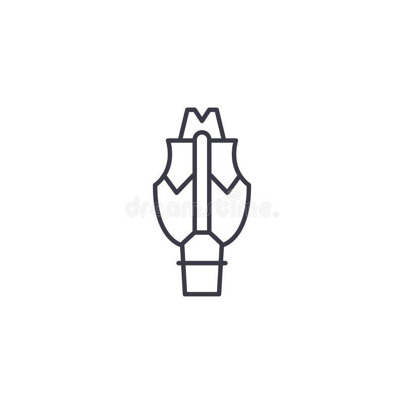 Concepto linear del icono del símbolo de la glándula tiroides Línea muestra del vector, símbolo, ejemplo del símbolo de la glándu libre illustration