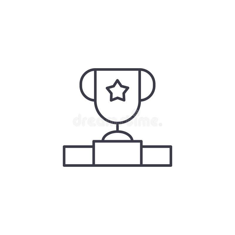 Concepto linear merecido del icono del premio Línea merecida muestra del vector, símbolo, ejemplo del premio libre illustration