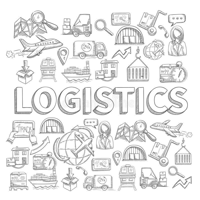 Concepto logístico del bosquejo libre illustration