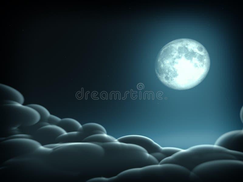 Concepto mágico de la luna stock de ilustración