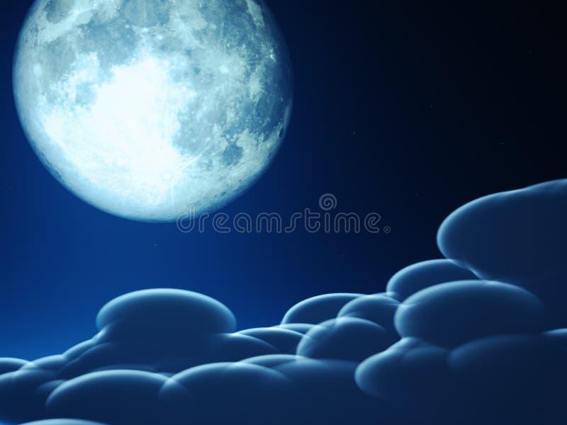 Concepto mágico de la luna libre illustration
