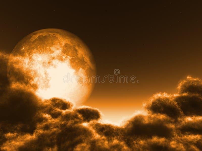 Concepto mágico de la luna ilustración del vector