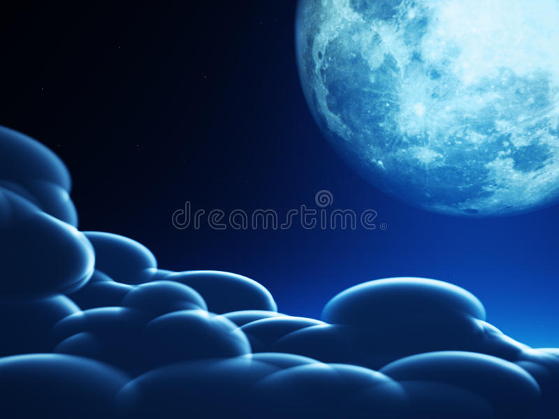 Concepto mágico de la luna imágenes de archivo libres de regalías