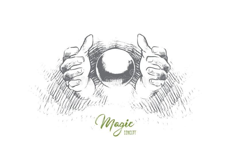 Concepto mágico Vector aislado dibujado mano stock de ilustración
