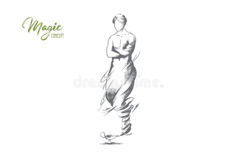 Concepto mágico Vector aislado dibujado mano libre illustration