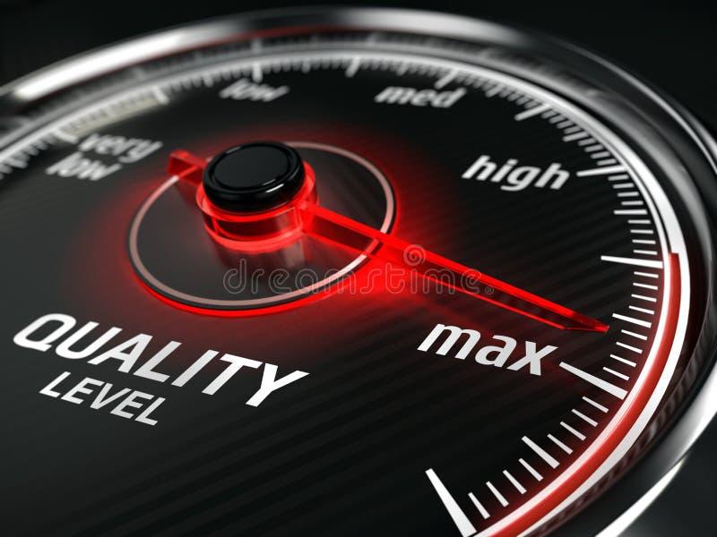 Concepto máximo de la calidad - metro del nivel de calidad ilustración del vector
