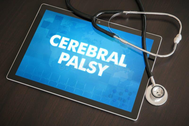 Concepto médico de la diagnosis de la parálisis cerebral (desorden neurológico) foto de archivo libre de regalías