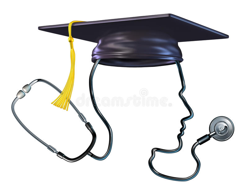 Concepto médico de la educación stock de ilustración