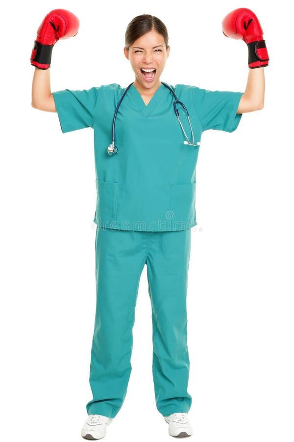 Concepto médico del éxito de la enfermera/del doctor imagen de archivo