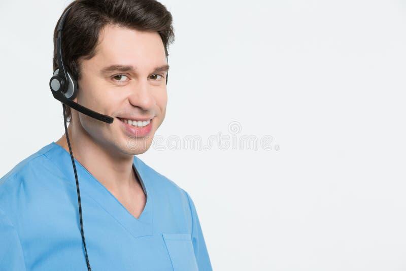 Concepto médico del centro de atención telefónica imagenes de archivo