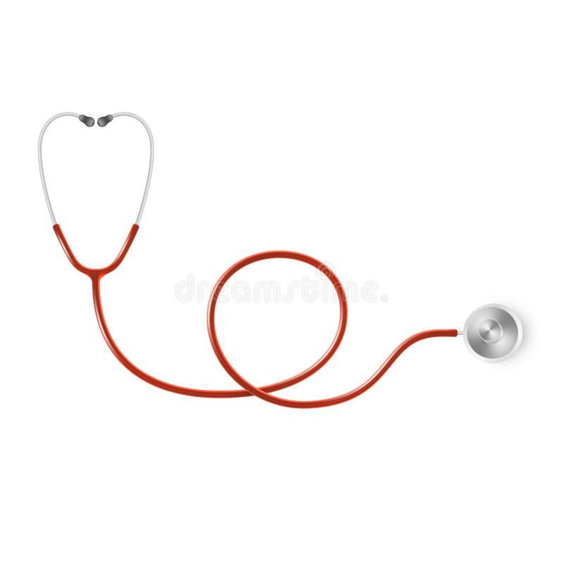 Concepto médico y de la atención sanitaria, estetoscopio del doctor s aislado en el fondo blanco EPS 10 libre illustration