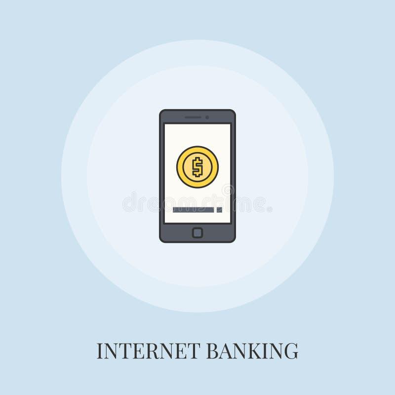 Concepto m?vil de las actividades bancarias libre illustration