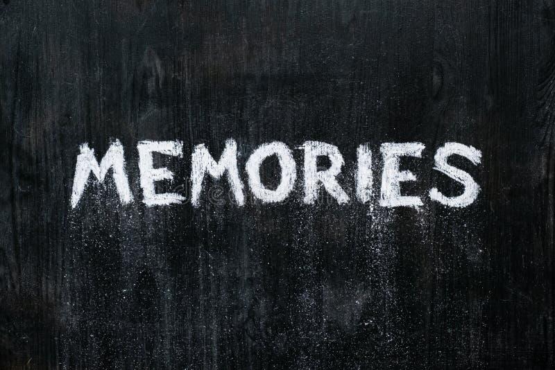 Concepto mental de los problemas: palabra escrita 'memorias 'de la mano fotos de archivo libres de regalías